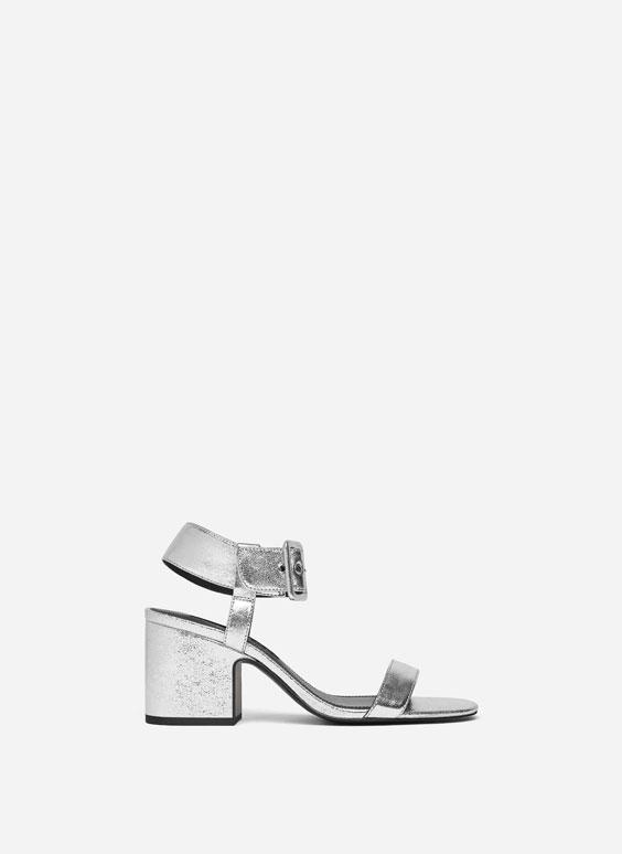 Sandales metāliskā krāsā