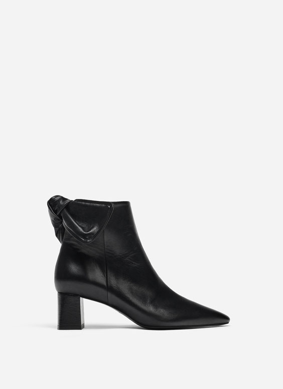 Bottines noires nœud