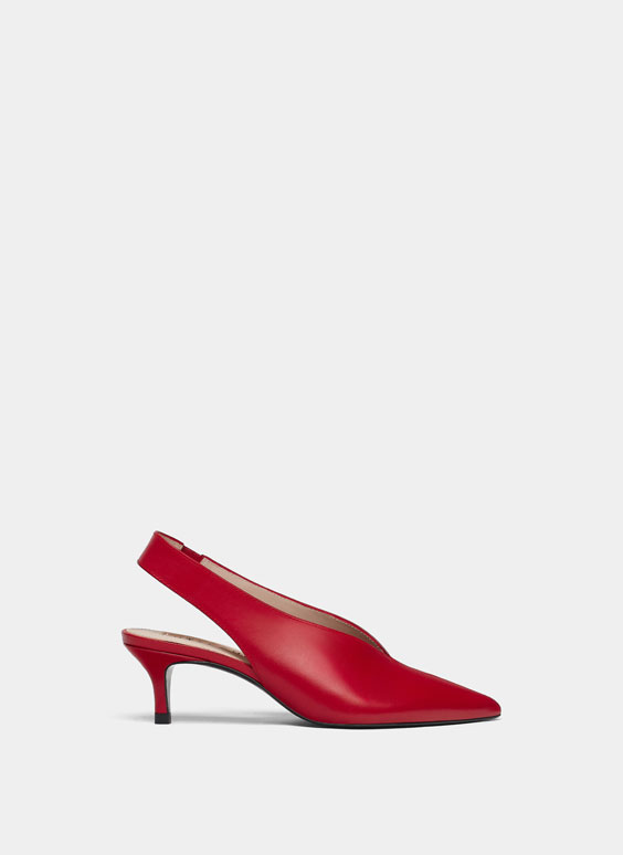Red nappa shoes