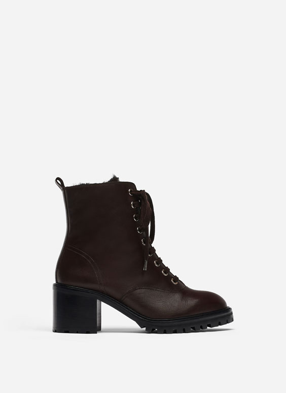 Track sole ankle boots