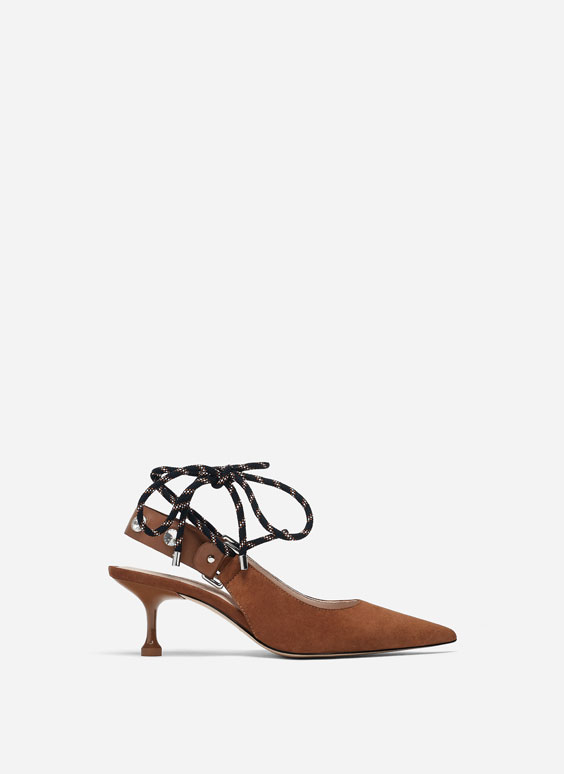 Slingback shoes with laces