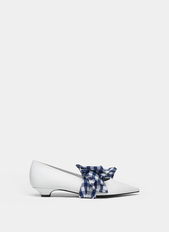 White shoes with removable straps
