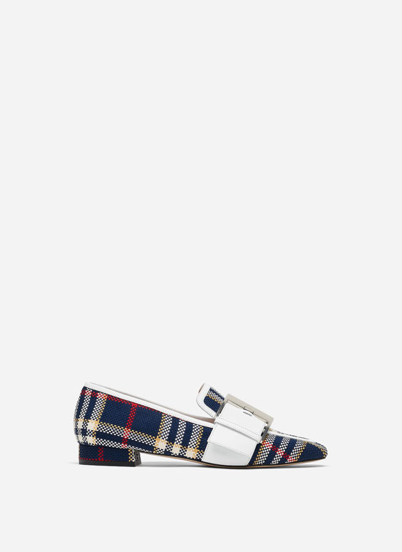 Checked loafers