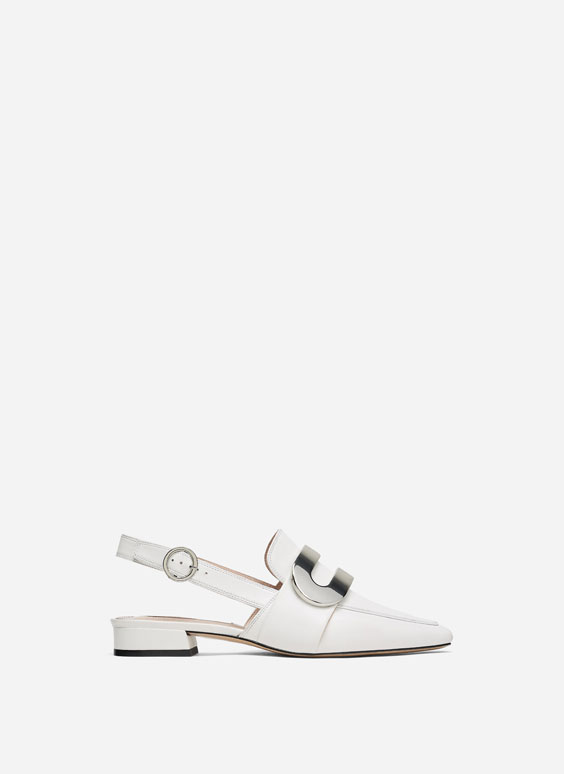 Baltas kurpes bez kapes