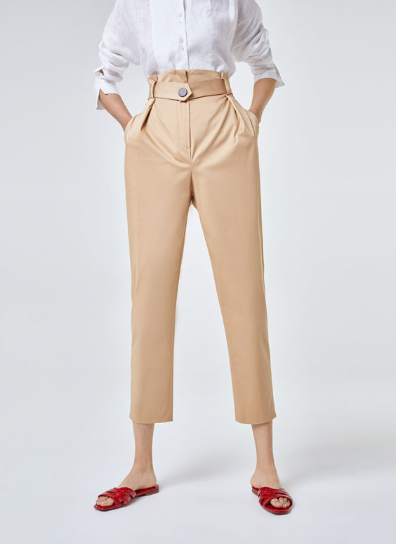 Basic snap button trousers