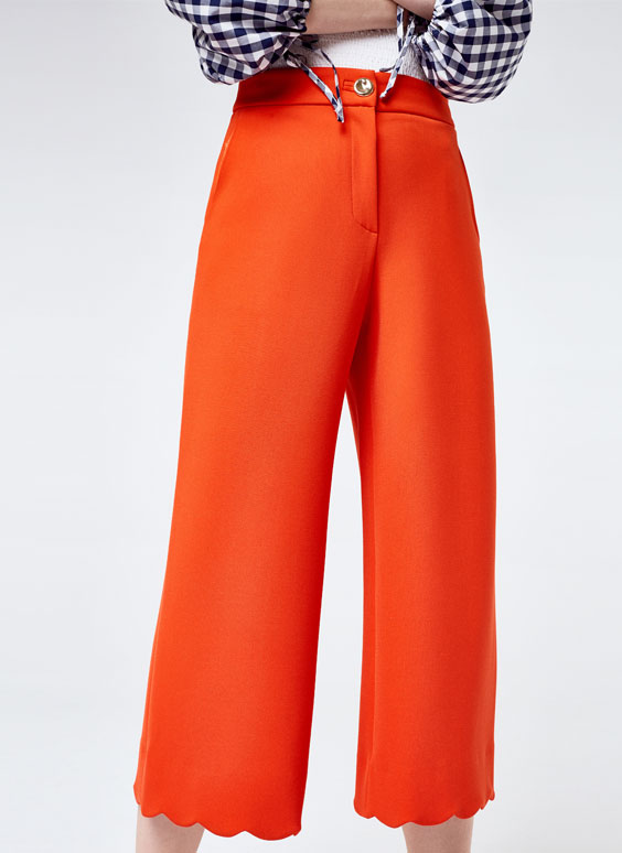 Scalloped trousers