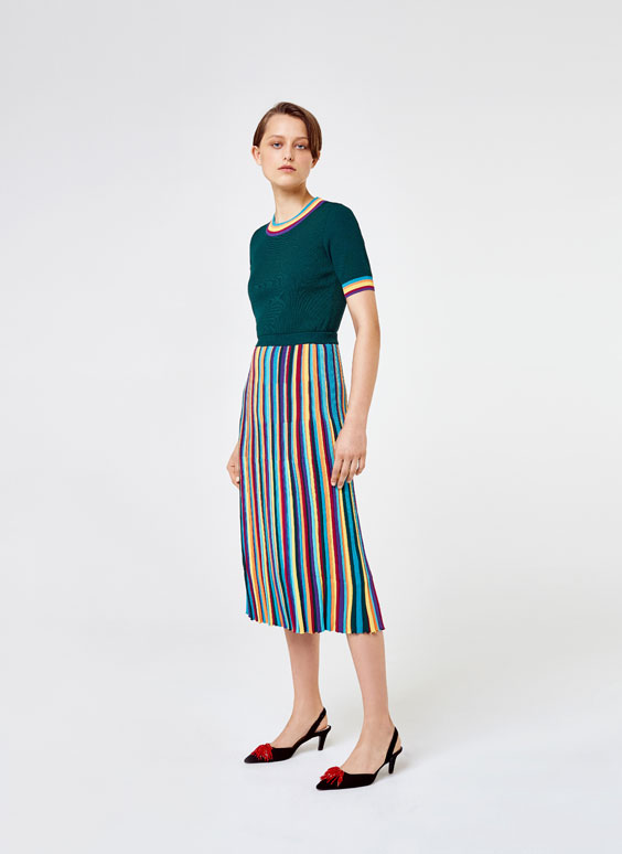 Multicoloured skirt