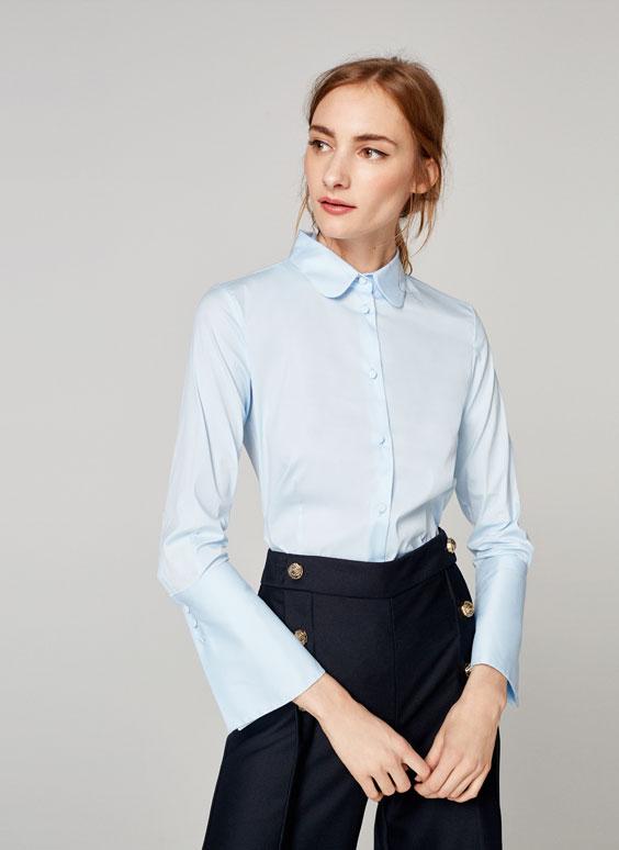 Chemise bleu ciel ajustée