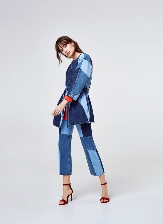 Kimono empiècements