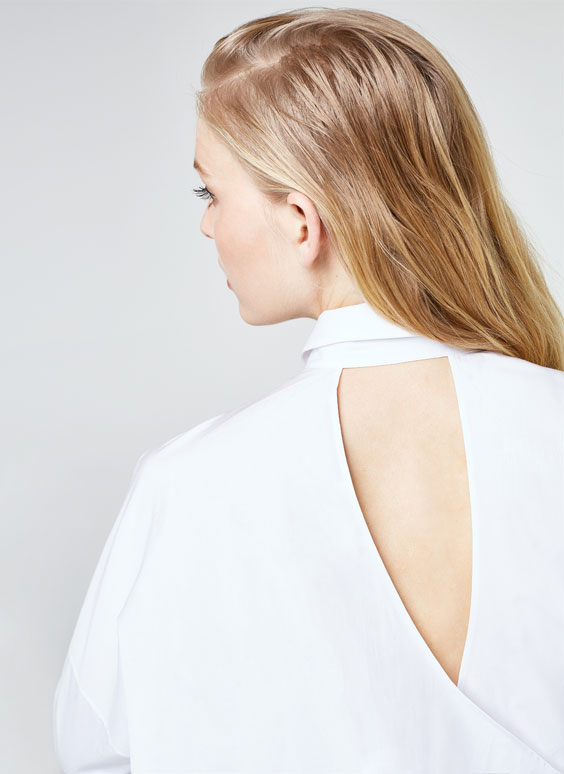 Shirt with back detail