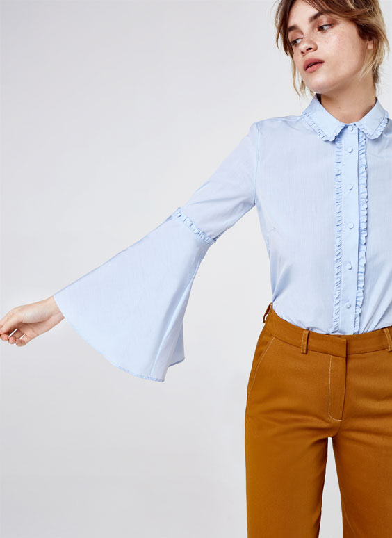 Mini ruffle shirt