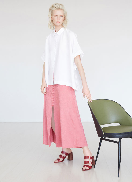 Poplin cape shirt