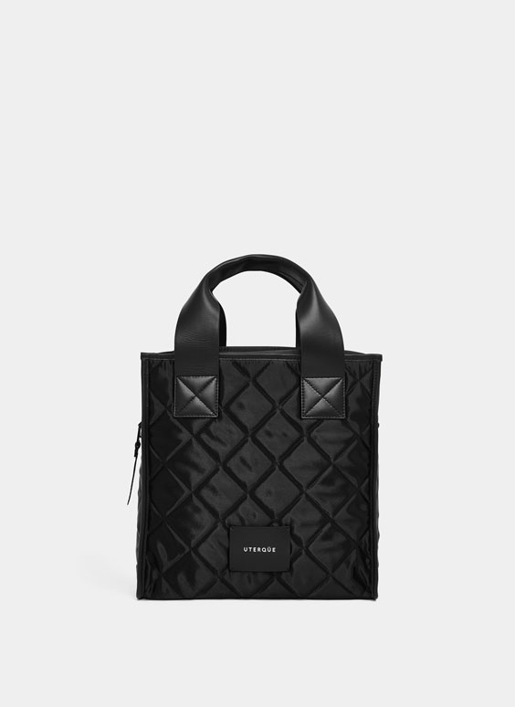 Quilted satin city bag