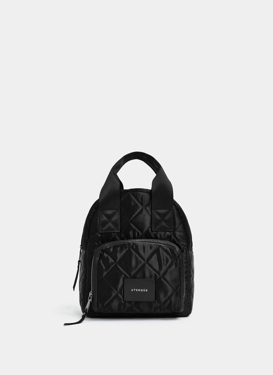 Satenska ruksak torba s prošivenom ispunom