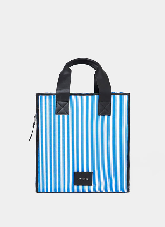 Multi-stripe tote bag