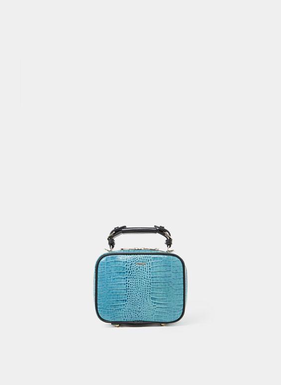 Mini-Umhängetasche im Kofferlook