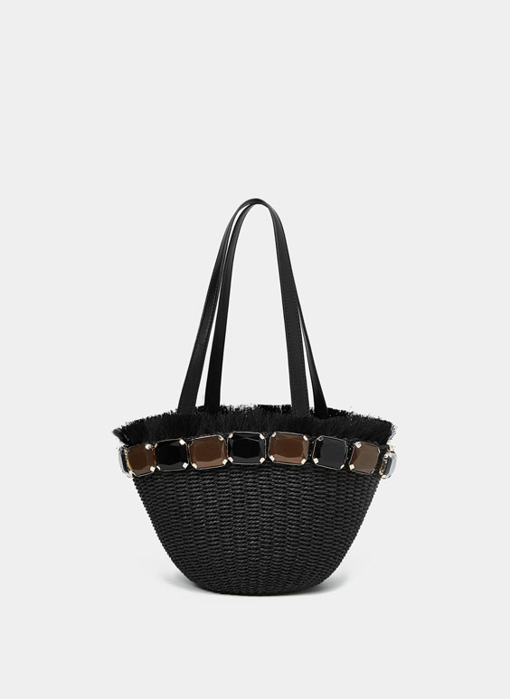 Small bejewelled tote bag
