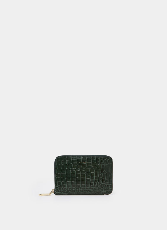 Medium mock croc wallet