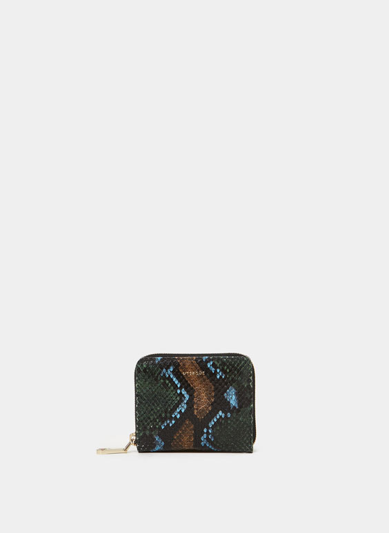 Mini snakeskin wallet