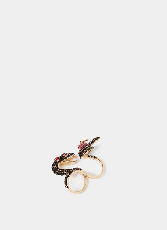 Anillo serpiente y manzana