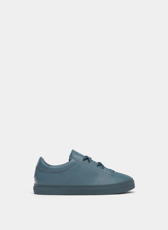 Unifarbene Sneaker in Blau