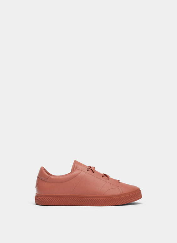 Unifarbene Sneaker in Rosa