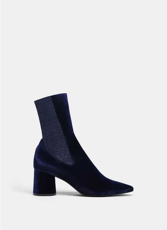 Bottines velours bleue