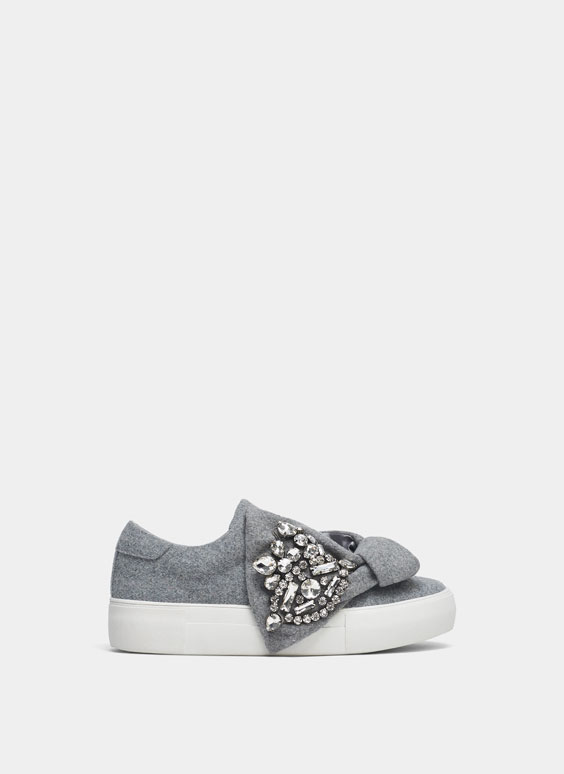Bejewelled marl trainers