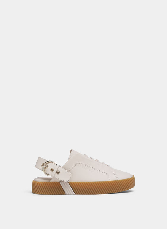 Leather mule sneakers