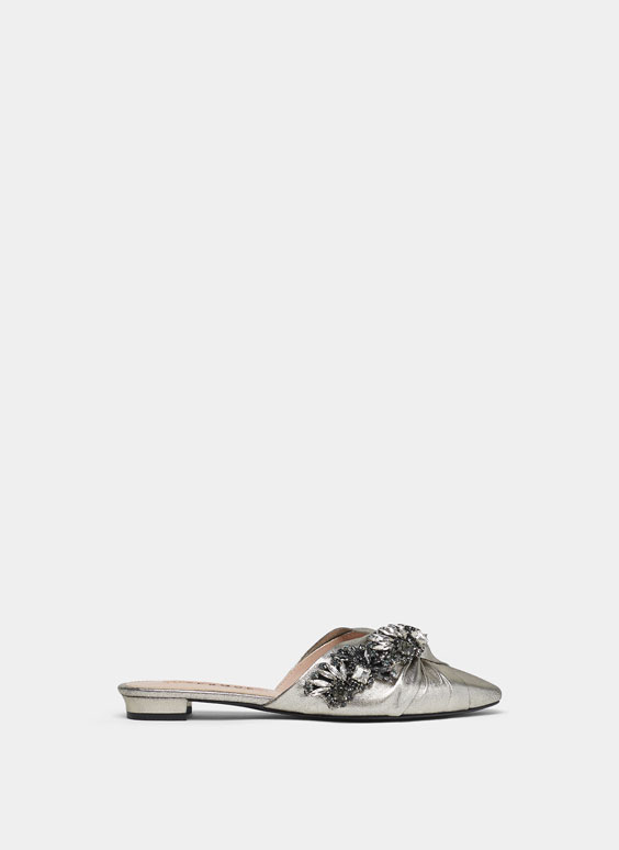 Bejewelled knot mules