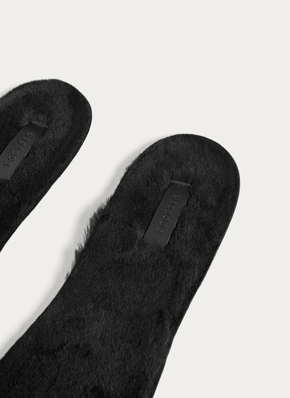 Black furry insoles