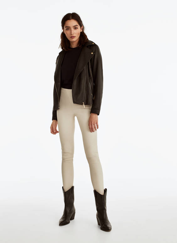 Nappa leather leggings