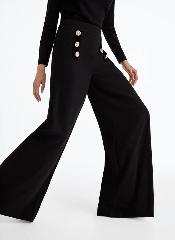 Embellished palazzo trousers