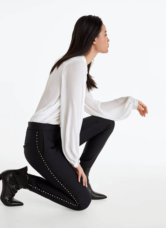 Leggings with pearl detail