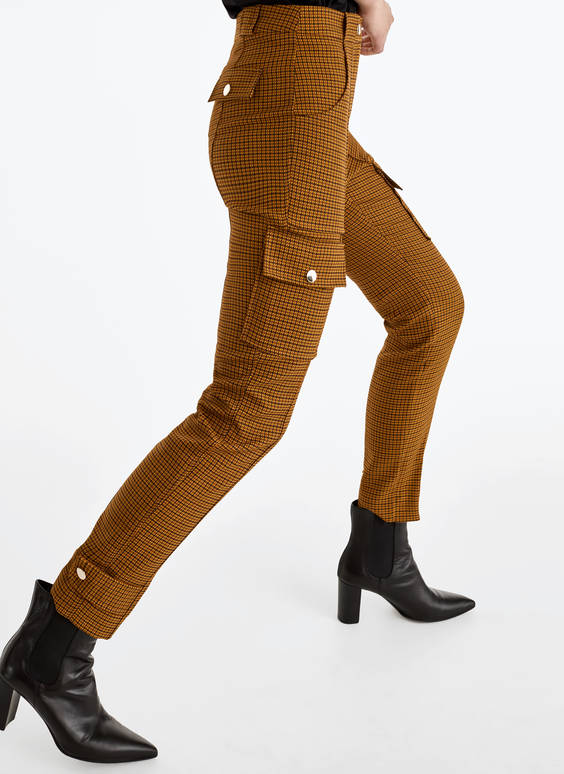 Pinstriped cargo trousers