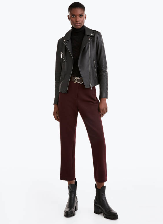 Top-stitched trousers