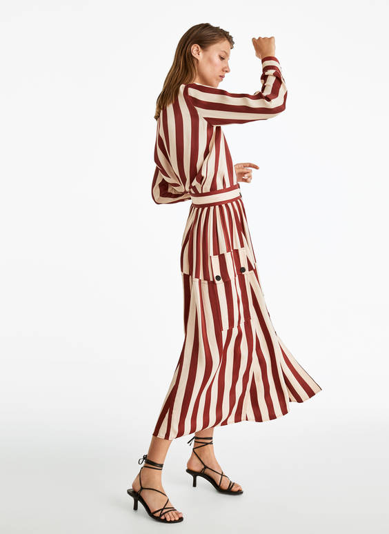 Russet striped skirt