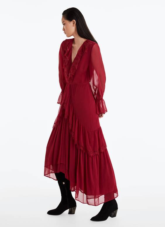 Vestido rojo blondas