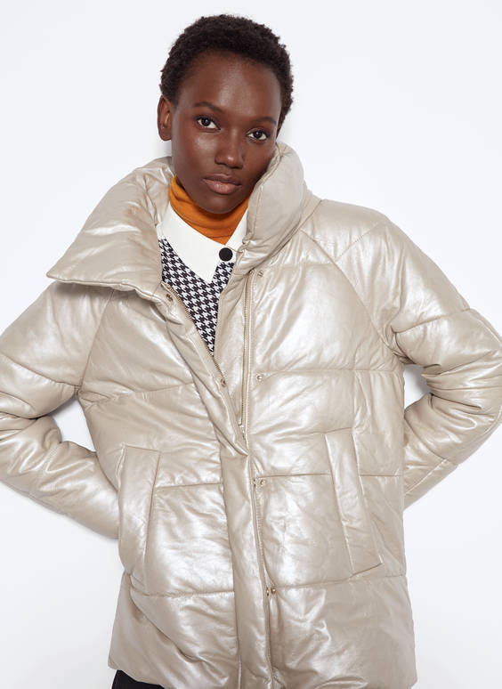 Pearly down puffer jacket