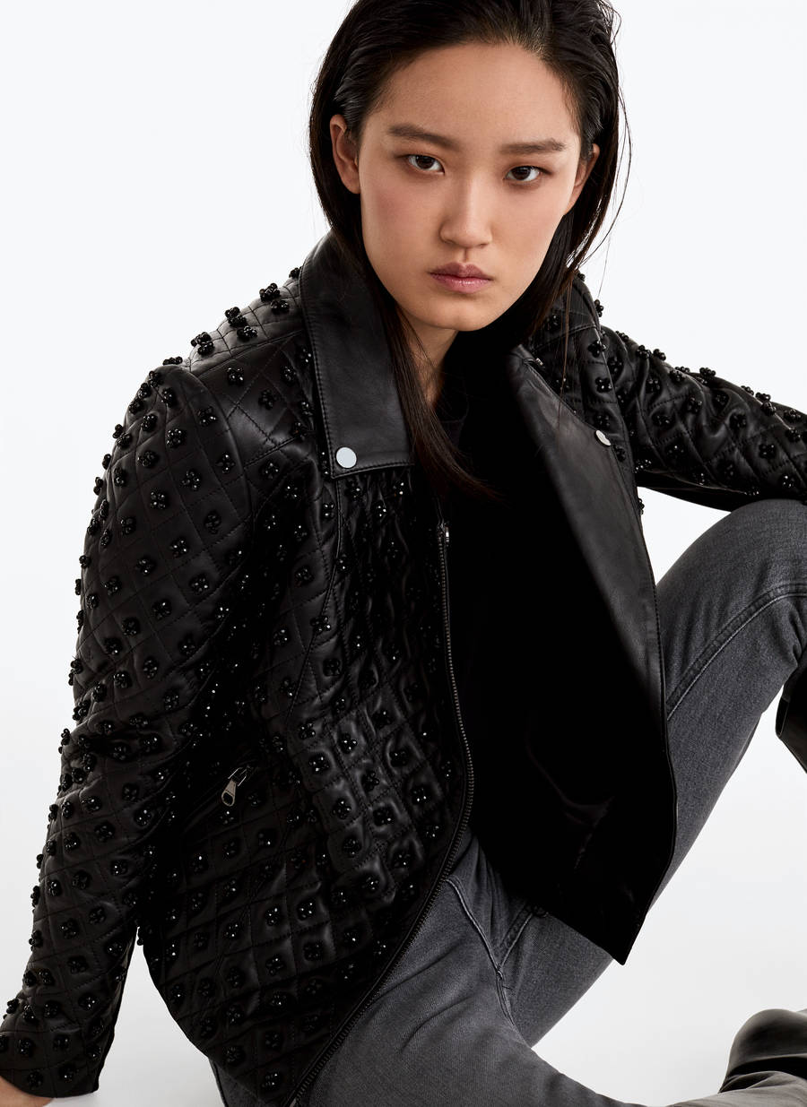 Quilted Leather Jacket by Uterqüe