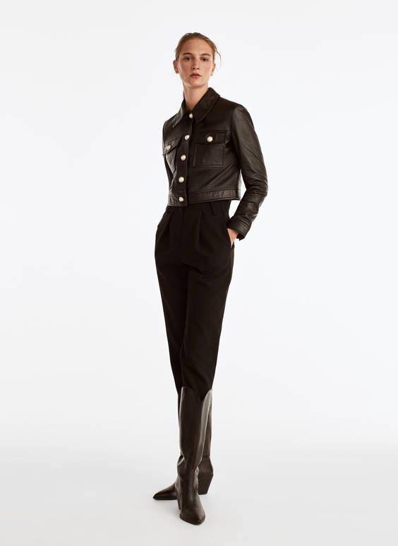 Куртка с пуговицами-жемчужинами