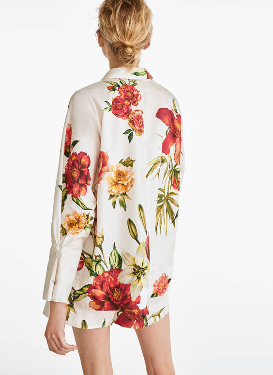 Camisa popelin flores