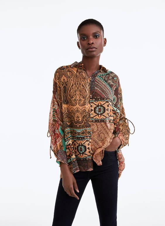 Camisa estampado patchwork