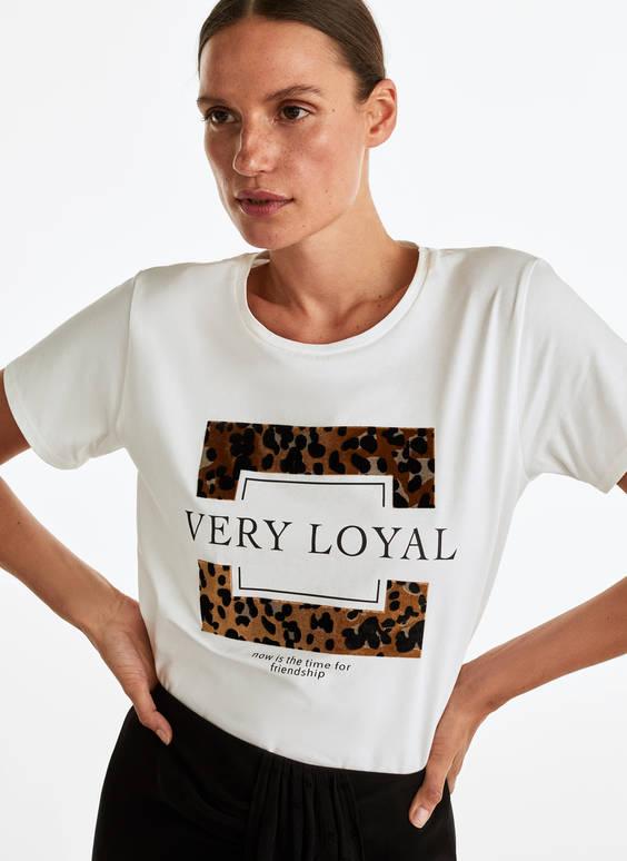 T-shirt encadré léopard