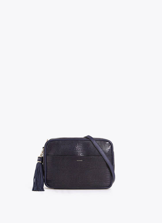 XL mock croc crossbody bag
