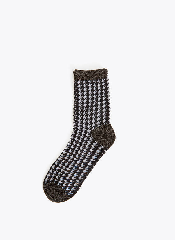 Houndstooth socks
