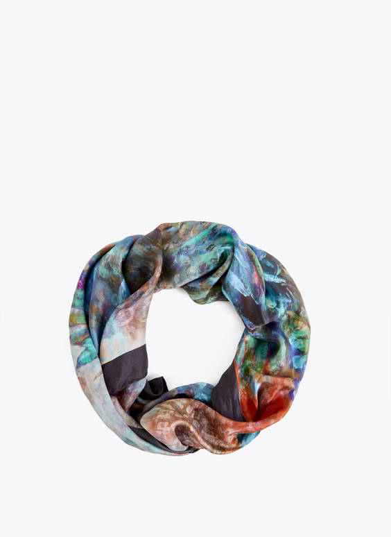 Watercolour silk scarf