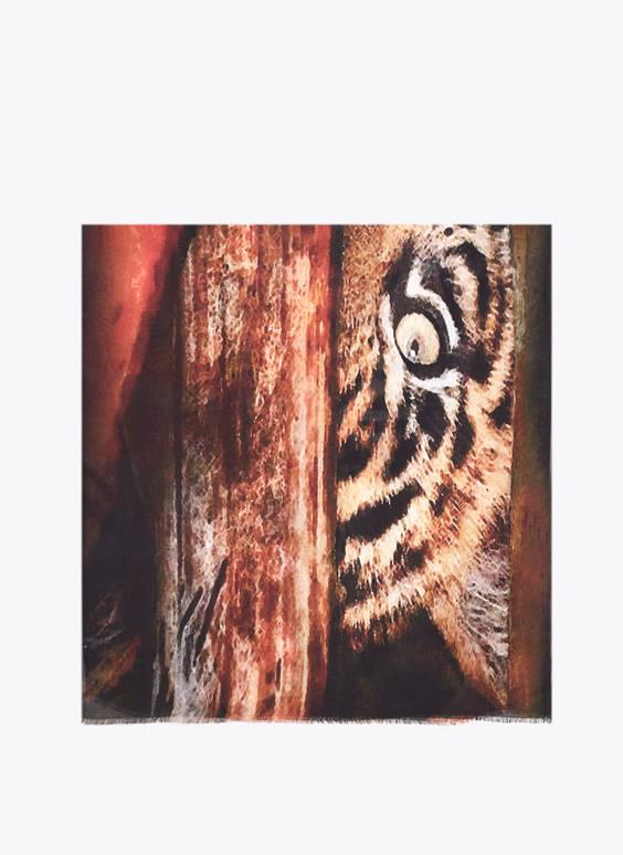 Tiigrimustriga rätik