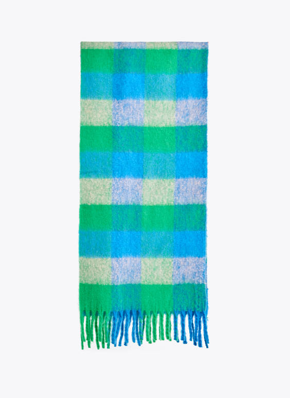 Colourful check scarf