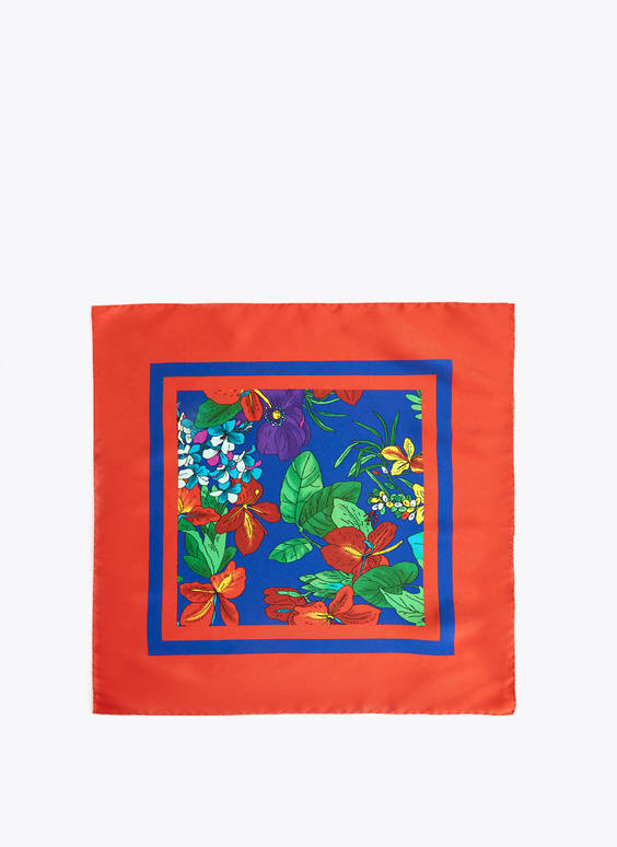 Foulard piccolo stampa floreale